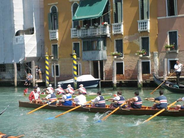 Rowing teams from all over competed on May 23 in a race on the Grand Canal.