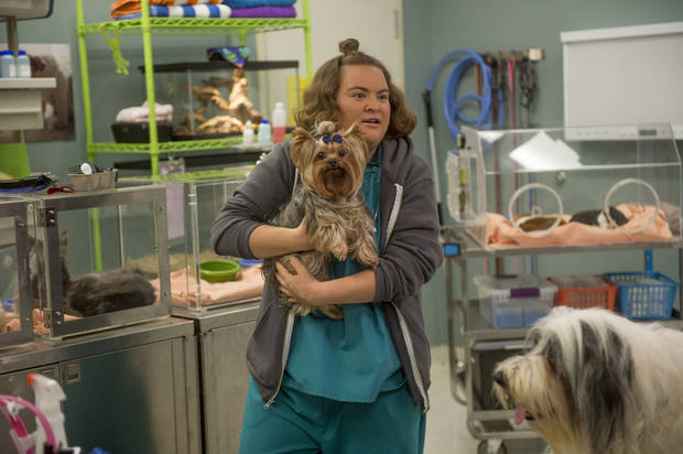 "Betsy Sodaro as Angela in ""Animal Practice."" NBC Photo <strong>NBC</strong>"