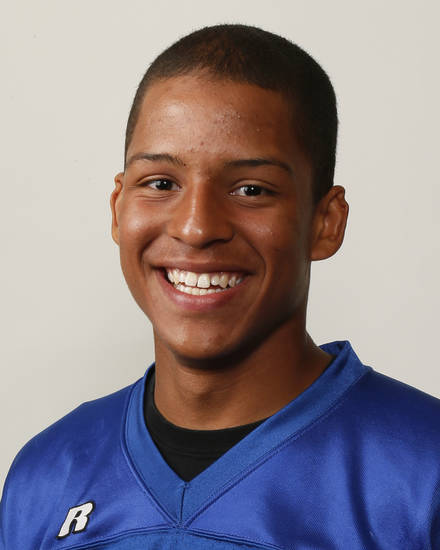Kai Callins, Guthrie football player, poses for a mug shot during The Oklahoman's Fall High School Sports Photo Day in Oklahoma City, Wednesday, Aug. 15, 2012. Photo by Nate Billings, The Oklahoman