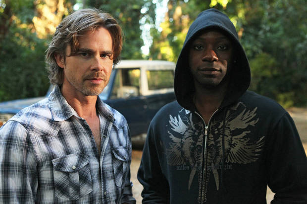 "From left, Sam Trammell and Nelsan Ellis of ""True Blood"" - HBO Photo by Doug Hyun"