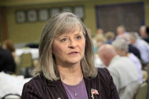 Rep. Sally Kern, R-Oklahoma City, attending the Capitol Republican Caucus luncheon in Oklahoma City Wednesday, June 15, 2011.  kern was guest speaker. Photo by Paul B. Southerland, The Oklahoman ORG XMIT: KOD