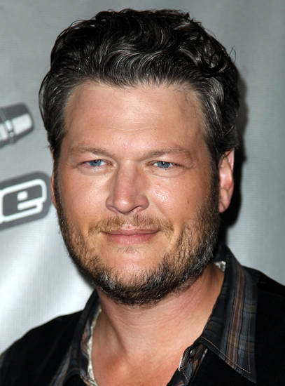 "Blake Shelton arrives at ""The Voice"" season 4 red carpet event at the House of Blues on Wednesday, May 8, 2013 in Los Angeles. (Photo by Matt Sayles/Invision/AP) ORG XMIT: CAMW119"
