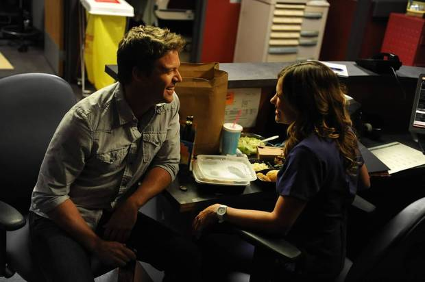 "Matt Passmore and Kiele Sanchez in ""The Glades"" - A&E Photo"