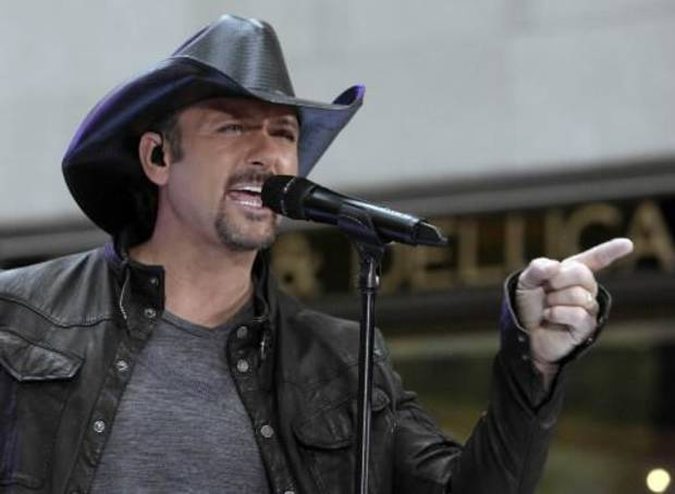 "Tim McGraw performs on ""Today Show"" on NBC. (AP Photo by Richard Drew)"