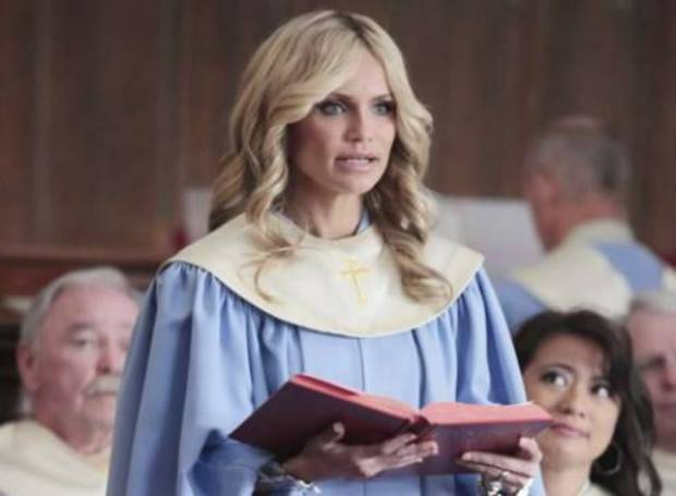 "Kristin Chenoweth, an Oklahoma native, is shown in a scene from the ABC television show �GCB,"" which was canceled in spring."