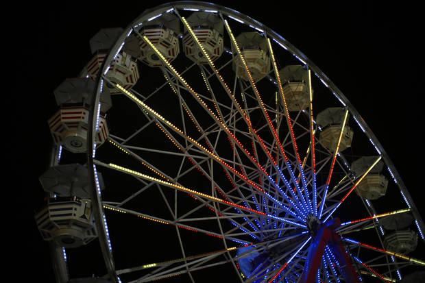 Ferris Wheel during the 2012 Oklahoma State Fair in Oklahoma City, Saturday, Sept. 15, 2012.  Photo by Garett Fisbeck, The Oklahoman