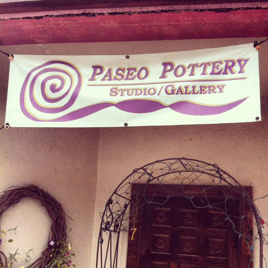 The storefront of Paseo Pottery, a gallery/studio that has been in the Paseo Arts District for 23 years. Photo by Rachael Cervenka.