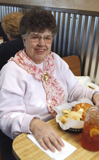 Blanchard resident Marcia Miller at Dakota's Cafe on Wednesday, Jan. 11, 2012, in Blanchard, Okla.   Photo by Steve Sisney, The Oklahoman