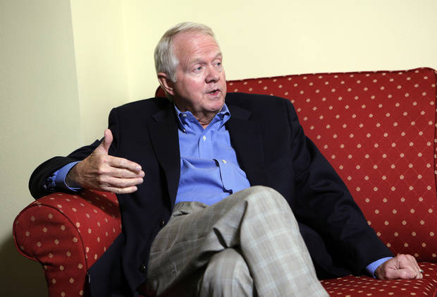 Archie Dunham, Chesapeake Energy Corp.'s new chairman, discusses his role and the future of the Oklahoma City energy company during a conversation with The Oklahoman on Sunday afternoon.   <strong>SARAH PHIPPS - Photo by Sarah Phipps, The Oklah</strong>