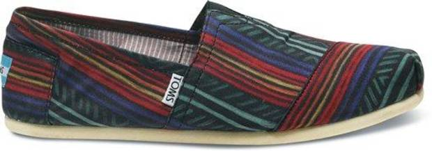 In this undated image provided by Toms, shows an M-Ade shoe from the spring-summer '12 collection. Music star Lenny Kravitz was the guest designer for the collection. (AP Photo/Toms)