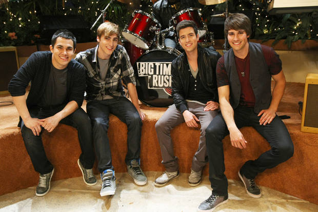"BIG TIME RUSH on Nickelodeon, ""Big Time Move"". ""All Over Again"" performance,Photo: Robert Voets / Nickelodeon. ©2011 Viacom, International, Inc. All Rights Reserved"