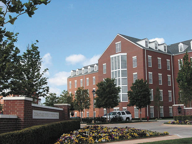 OFFICE BUILDING EXTERIOR: A building on the campus of Chesapeake Energy Corp. in northwest Oklahoma City is shown.