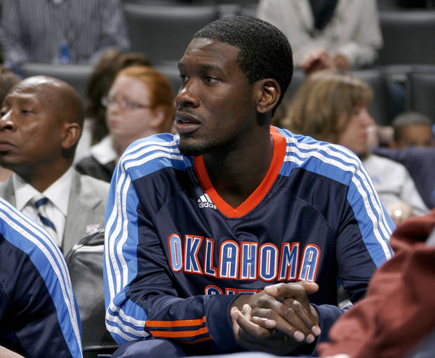 Oklahoma City's Royal Ivey sits on the bench during the Thunder's preseason game against CSKA Moscow on Thursday. PHOTO BY BRYAN TERRY, THE OKLAHOMAN