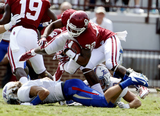 Trey Franks would have been the top man on kickoff returns for OU entering the 2014 season. Photo by Steve Sisney, The Oklahoman