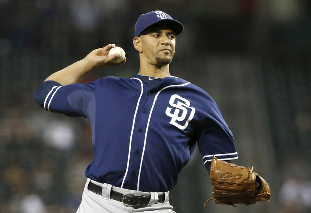 San Diego Padres' Tyson Ross throws against the Arizona Diamondbacks during the fourth inning of a baseball game on Monday, Aug. 26, 2013, in Phoenix. (AP Photo/Ross D. Franklin)