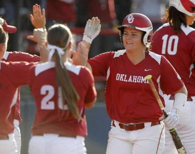 Oklahoma sophomore second baseman Georgia Casey struggled at the plate late last season. PHOTO BY BRYAN TERRY, THE OKLAHOMAN ARCHIVE