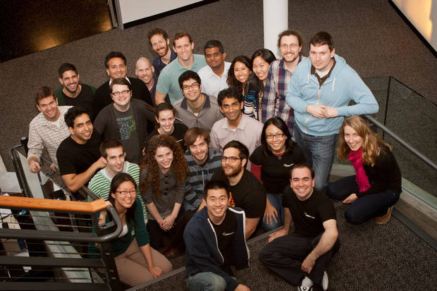 The Khan Academy team, led by Salman Khan and pictured here in January, has grown in recent years thanks to grants and support from foundations, corporations and individuals. PHOTO PROVIDED. <strong></strong>