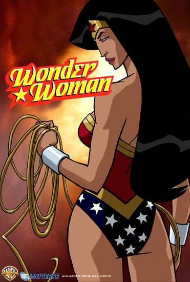 Wonder Woman DVD movie, with voices by Nathan Fillion and Keri Russell.   Credit: Wonder Woman and all related characters and elements are trademarks of and (c) DC Comics.