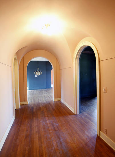 This is a hallway in the home at 440 NW 15 in Oklahoma City, OK, Monday, Jan. 23, 2012. The home will be this year's Symphony Show House. By Paul Hellstern, The Oklahoman