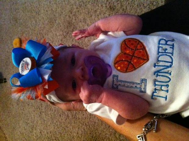 "Zoey Dailey ""Youngest Thunder Fan\"""
