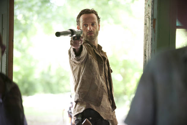 Rick Grimes (Andrew Lincoln) - The Walking Dead - Season 3, Episode 1 - Photo Credit: Gene Page/AMC