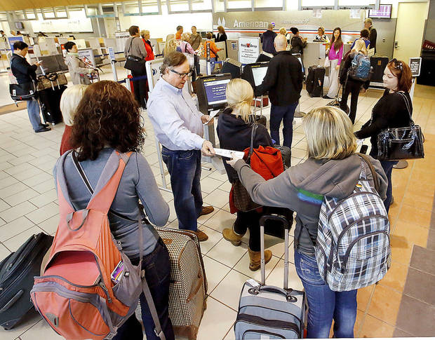 Will Rogers World Airport was prepared Wednesday for the onslaught of holiday travelers in advance of the Thanksgiving holiday. Several thousand air travelers were expected to fly in and out of Oklahoma City�s commercial airport. Photos by Jim Beckel, The Oklahoman