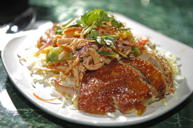Pattaya chicken at Banana Island, which serves Thai and Malaysian food, in Oklahoma City, Thursday, Jan. 19, 2012. Photo by Bryan Terry, The Oklahoman