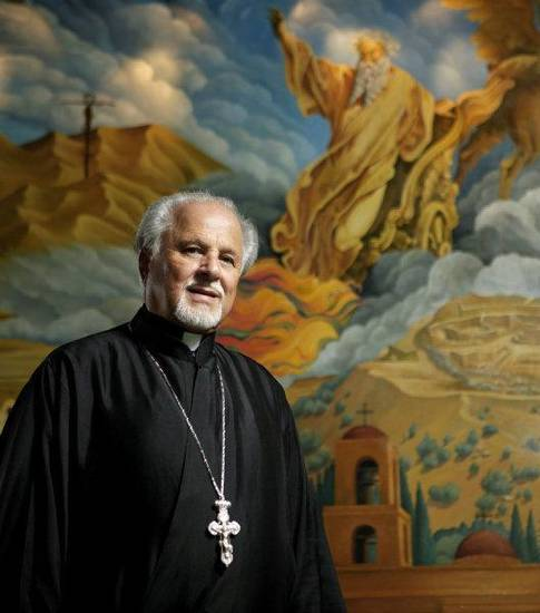 The Rev. Constantine Nasr poses for a photo at St. Elijah Antiochian Orthodox Christian Church in Oklahoma CIty. <strong>BRYAN TERRY - THE OKLAHOMAN</strong>