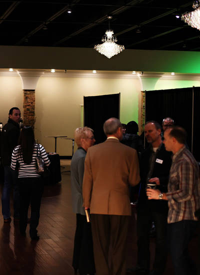 Attendees gather at the new JourneyChurch.tv-Southwest Oklahoma City campus at 10601 S Western. Photo provided by sharleerotherphotography.com  <strong></strong>