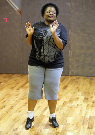 Janitta Swain tap dances at the  Poteet Theatre at St. Luke's United Methodist Church  in Oklahoma City.  Photo by Sarah Phipps, The Oklahoman <strong>SARAH PHIPPS - SARAH PHIPPS</strong>