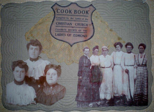 Women who contributed to a 1905 cookbook are depicted in a quilt exhibit. Photo provided by Judy Howard