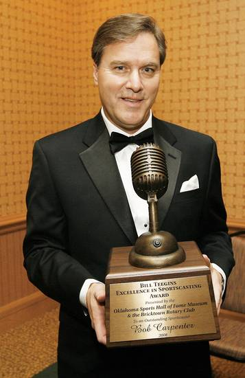 Bob Carpenter won the 2008 Bill Teegins Excellence in Sportscasting Award.  Photo By Nate Billings, The Oklahoman archive