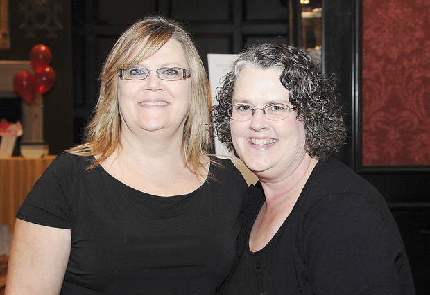 Left: Rebekah Bradley and Anita Baird.  PHOTO BY DAVID FAYTINGER, FOR THE OKLAHOMAN