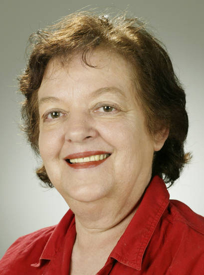 Ann DeFrange, Oklahoman staff writer and columnist. November 2003. Staff photo by Doug Hoke.