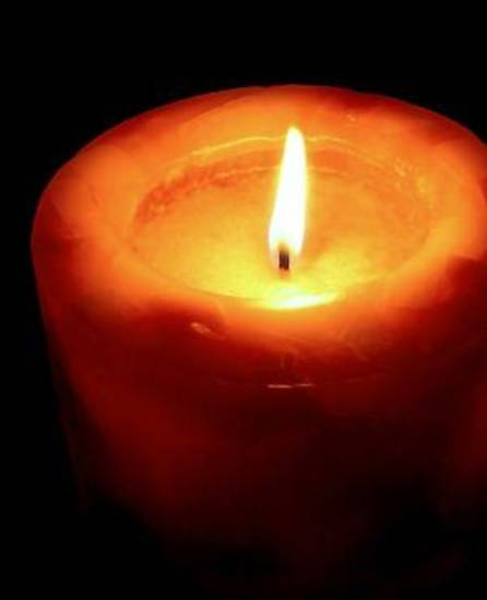 Romantic Candle Light In Darkness