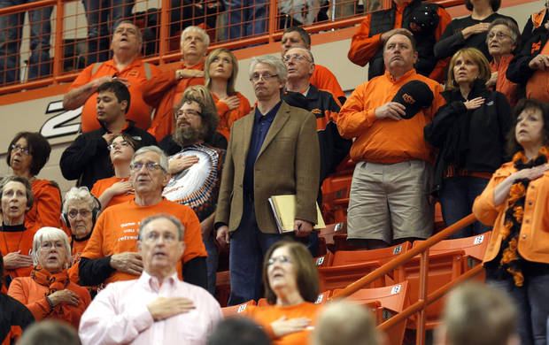 Berry Tramel was in the stands for Bedlam at Gallagher-Iba Arena on Saturday. Photo by Sarah Phipps/The Oklahoman