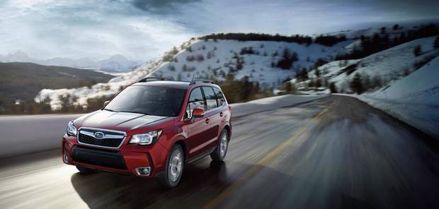 A 2014 Subaru Forester is one of the vehicles at the 2013 Oklahoma City International Auto Show.  PHOTO PROVIDED