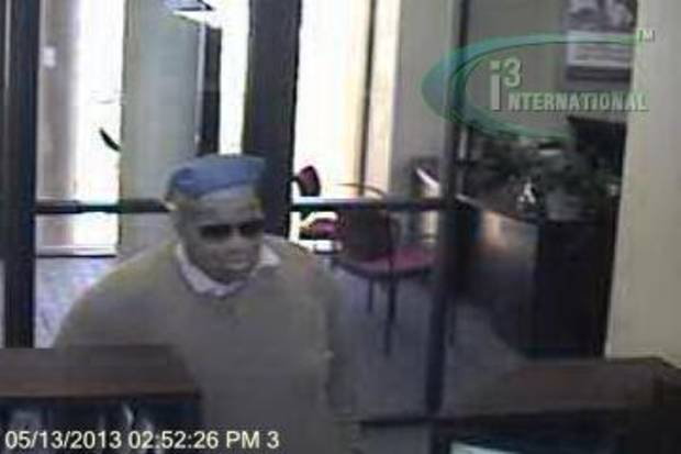 Authorities are searching for this man who robbed a northwest Oklahoma City bank Monday afternoon. <strong></strong>