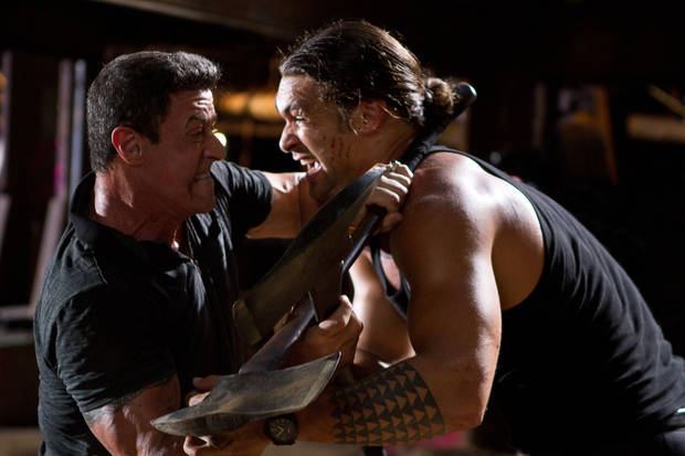 "This film image released by Warner Bros. Pictures shows Sylvester Stallone, left, and Jason Momoa in a scene from ""Bullet to the Head."" AP Photo/Warner Bros. Pictures, Frank Masi <strong>Frank Masi - AP</strong>"