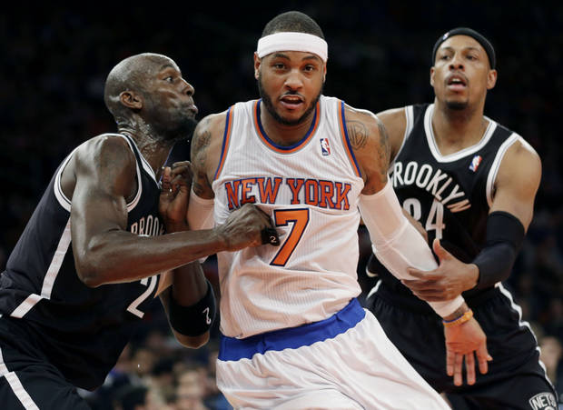 The New York Knicks and Brooklyn Nets are well over the salary cap. (AP Photo/Seth Wenig)