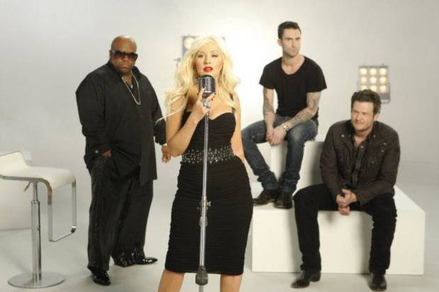THE VOICE -- On-Air Promo -- Pictured: (l-r) Cee Lo Green, Christina Aguilera, Adam Levine, Blake Shelton -- Photo by: Michael Desmond/NBC