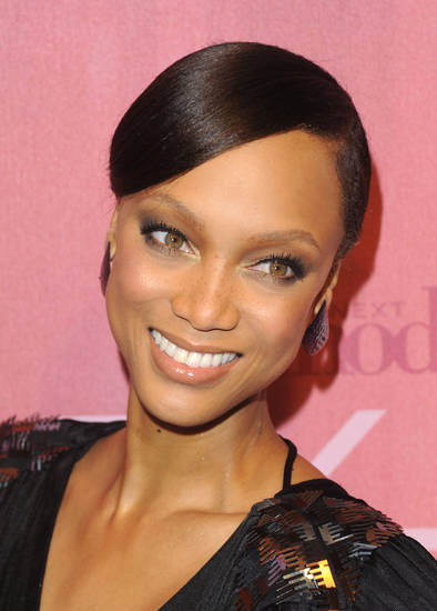 "FILE - In this Feb. 23, 2010 file photo, TV personality Tyra Banks attends a celebration of the CW networks launch of ""High Society"", ""Fly Girls"" and cycle 14 of ""America's Next Top Model"" in New York. (AP Photo/Peter Kramer, file) ORG XMIT: NYET505"