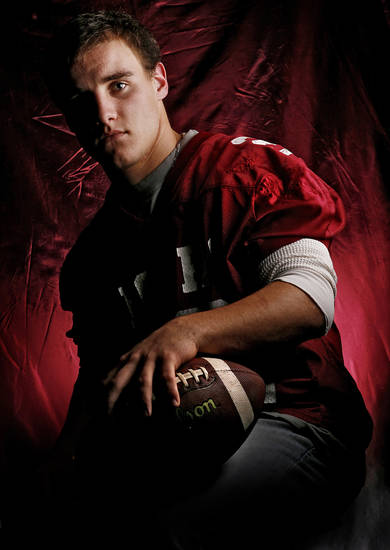 Tuttle High School's Zack Mincey All Little City Halfback. 
