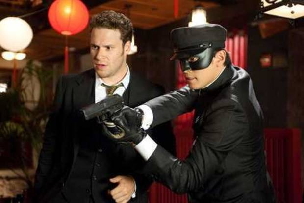 "Seth Rogen, left, and Jay Chou in ""The Green Hornet."""
