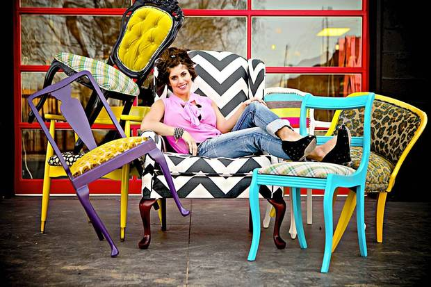 Edmond designer Kellie Clements offers a line of chairs she reuphosters and refinishes by hand. The line is available for sale at her website, http://modernwhimsyinteriors.com. Photo provided. <strong></strong>