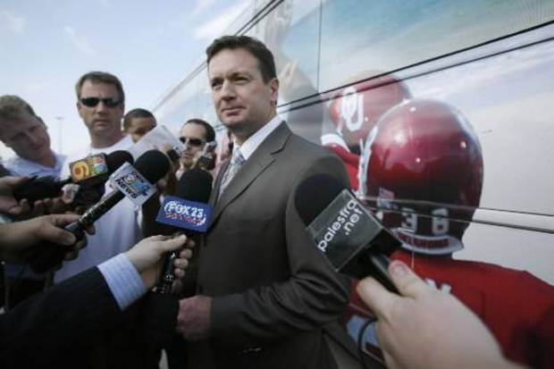 Brace yourself, Bristol. Bob Stoops will be invading the ESPN campus for 14 interviews over four hours on Thursday.