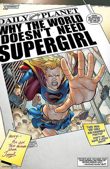 "A page from ""Supergirl"" No. 34, drawn by Jamal Igle and written by Sterling Gates.  PHOTO PROVIDED BY DC Comics"