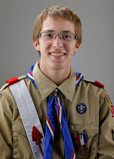 Eagle Scout Sean Burton poses for a portrait in Oklahoma City, Friday, July 13, 2012. Photo by Bryan Terry, The Oklahoman