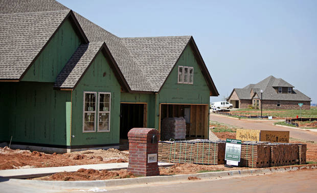 Shawn Forth Custom Homes is building this home at 18201 Haslemer Lane in The Grove addition in northwest Oklahoma City. Photo by BRYAN TERRY, THE OKLAHOMAN
