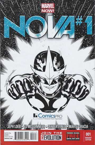 "The special ComicsPRO cover to ""Nova"" No. 1, distributed at the annual membership meeting of the organization. Marvel Comics. <strong></strong>"